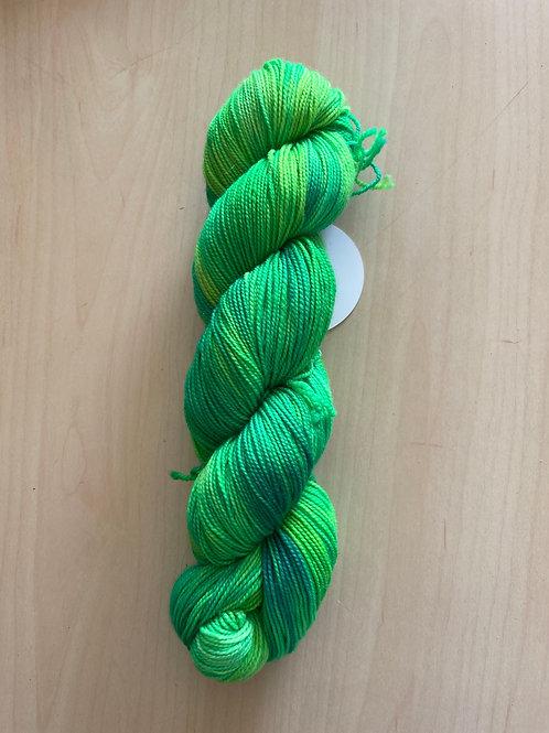 """ColorWae Fiber Arts Color Sock """"Green Fairy"""""""