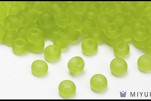 Miyuki 6/0 Glass Beads Transparent Frost Chartreuse