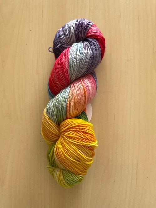 "ColorWae Fiber Arts Color Sock ""Rainbow Bridge"""