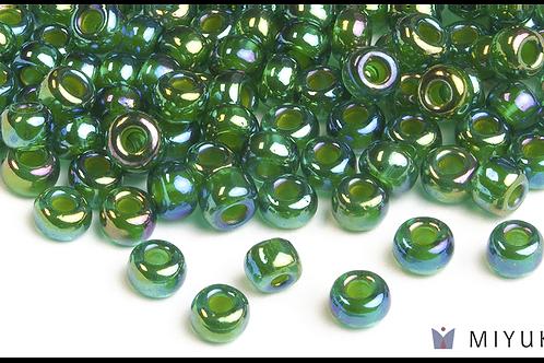 Miyuki 6/0 Glass Beads Chartreuse-lined Green AB