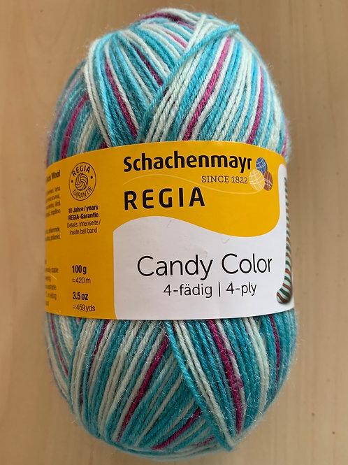 Regia 4-ply Candy Color Blue, Ice, Fuschia