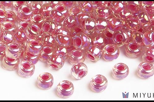 Miyuki 6/0 Glass Beads Magenta-lined Crystal AB