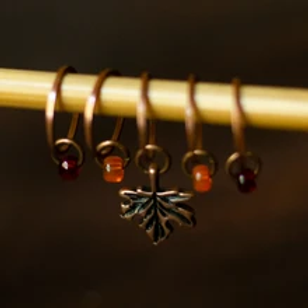 ADknits Maple Leaf Stitch Markers