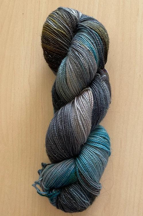 "ColorWae Fiber Arts Sparkle Sock ""Miranda"""