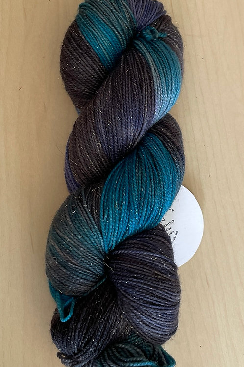 "ColorWae Fiber Arts Sparkle Sock ""Siren"""