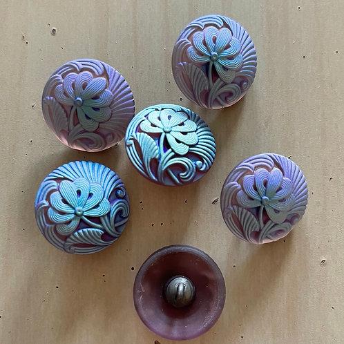 Nirvana Glass Buttons Pincushion Flower
