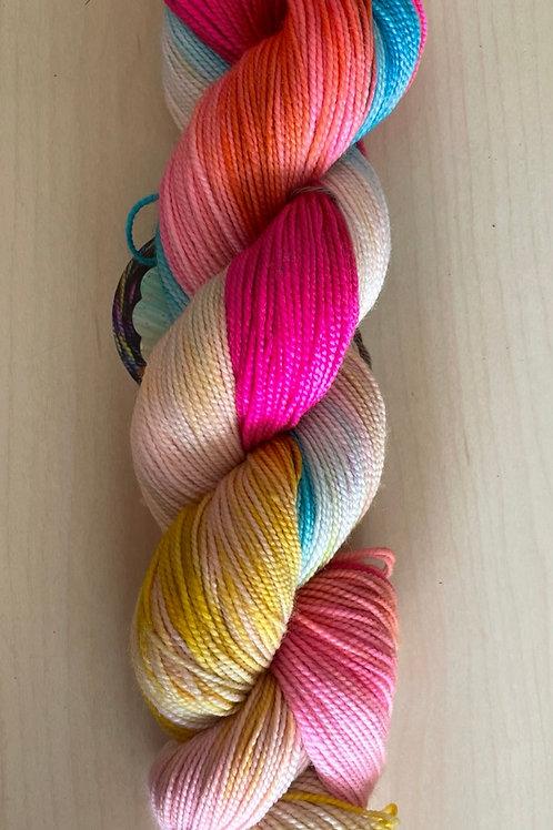"""ColorWae Fiber Arts Color Sock """"Happiness"""""""
