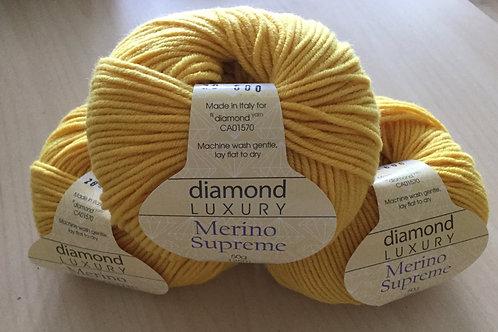 """Diamond Luxury Merino Supreme """"Yellow""""20"""
