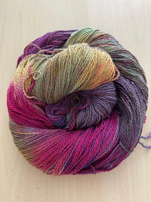 "Great Adirondack Yarn Co Organic Cotton Fingering ""Plum Loco"""