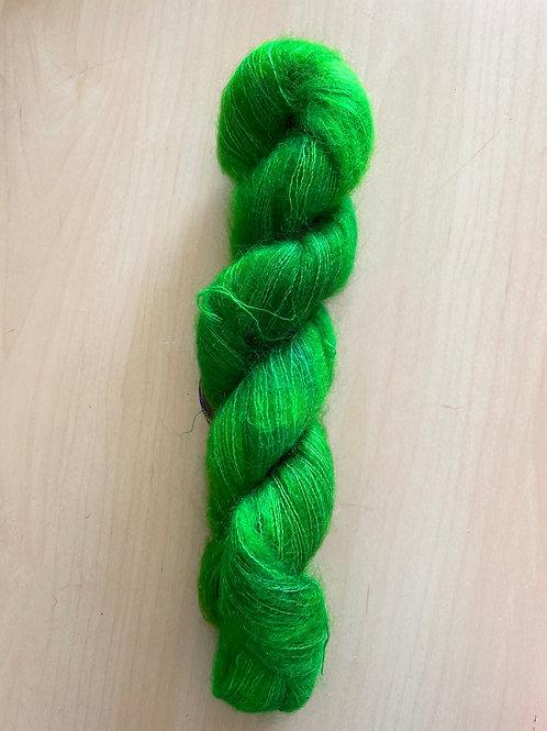 "ColorWae Fiber Arts Color Cloud Mohair ""The Green Fairy"""