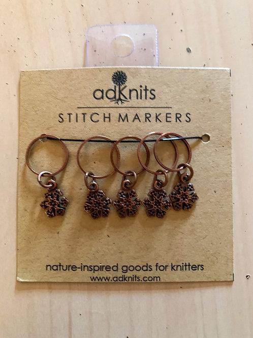 Snowflake stitch markers