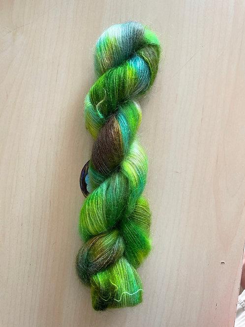 "ColorWae Fiber Arts Color Cloud Mohair ""Lizard Lips"""