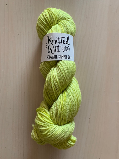 "Knitted Wit Polworth Shimmer DK ""Lettuce Alone"""