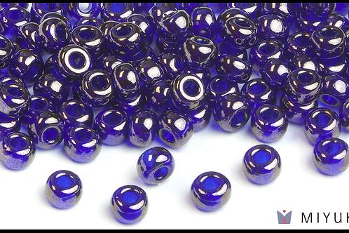 Miyuki 6/0 Glass Beads Cobalt Blue Gold Luster