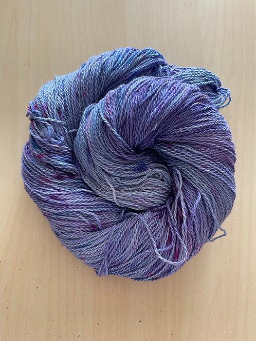 "Great Adirondack Yarn Co Organic Cotton Fingering ""Lilacs"""