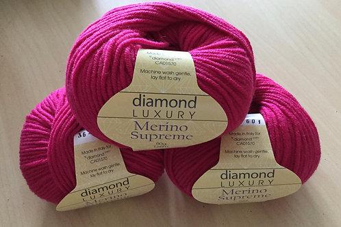 """Diamond Luxury Merino Supreme """"Hot Pink""""36"""