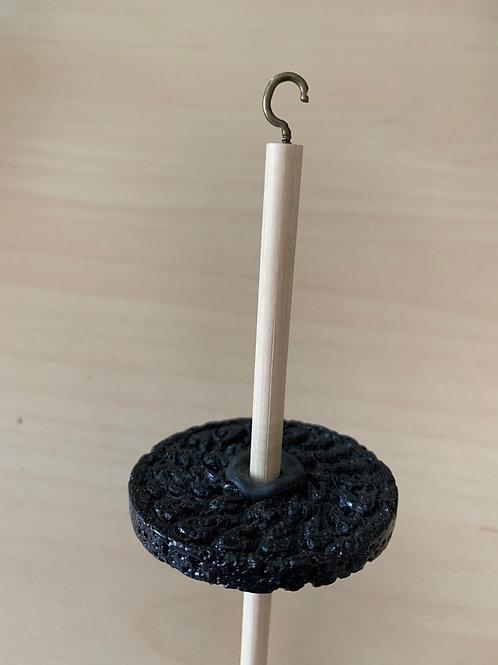 Full Circle Artworx Drop Spindle Black Lava Stone