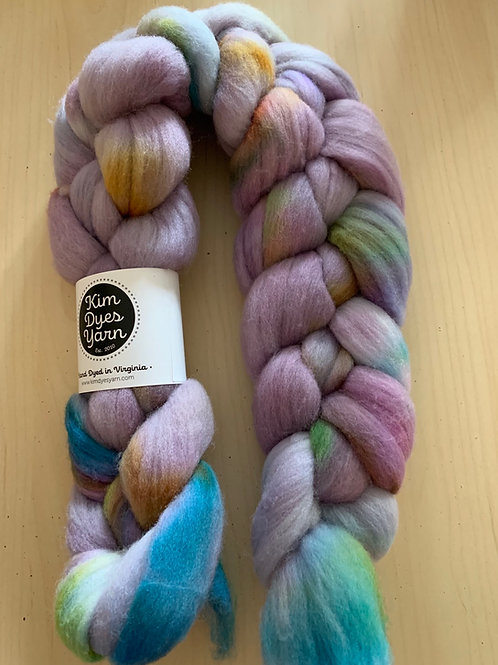 "Kim Dyes Yarn Targhee ""Snow's Rainbow"""