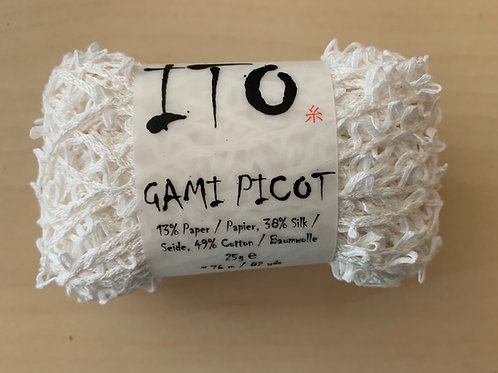 "ITO Gami Picot ""White"" 222"
