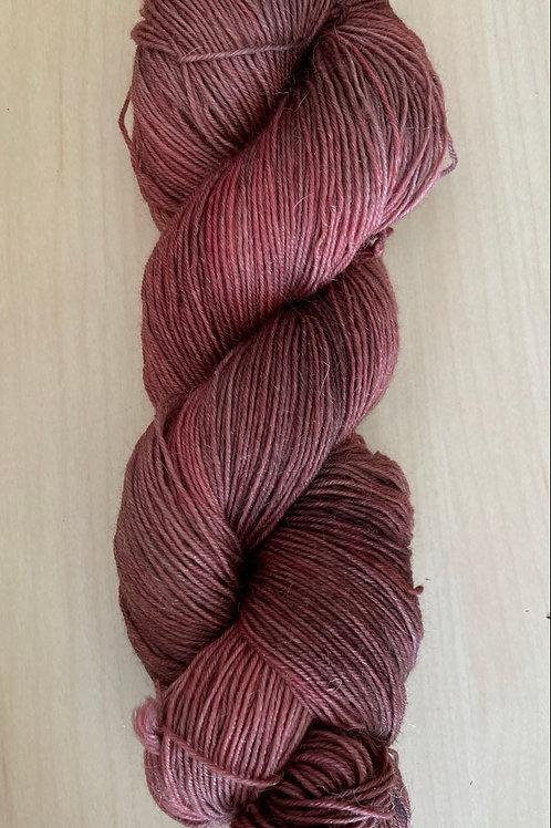 """ColorWae Fiber Arts Sturdy Sock """"Mahogany"""" ooak"""