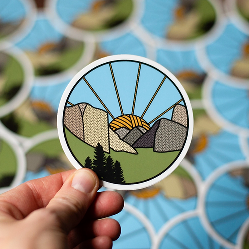 ADknits Stickers Yosemite Knitional Park