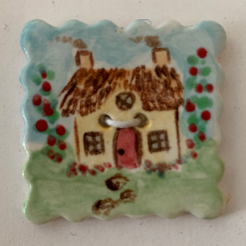 Cynthia Crane Ceramic Buttons House