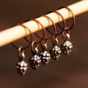 ADknits Pinecone Stitch Markers