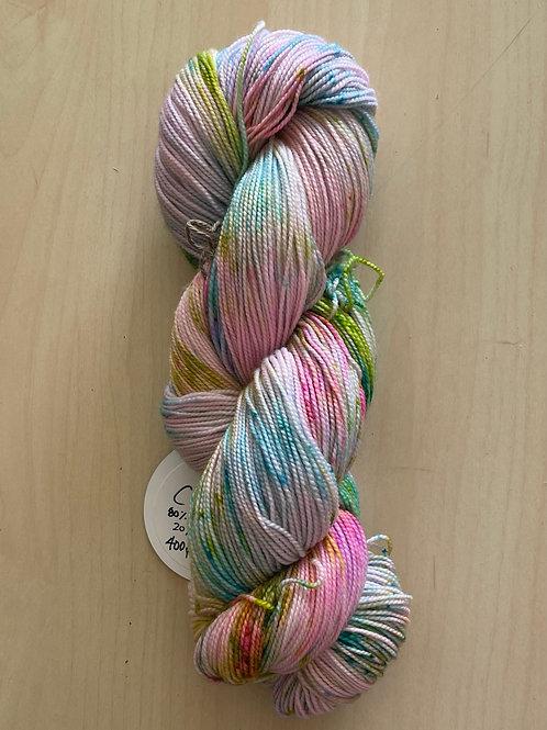 """ColorWae Fiber Arts Color Sock """"SPLAT!"""""""