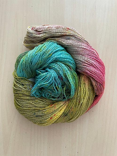 "Great Adirondack Yarn Co Organic Cotton Fingering ""Buttercup"""