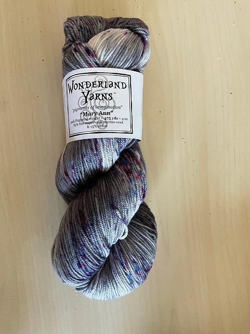 "Wonderland Yarns Mary Ann Sock ""Moonbeams"" #229"