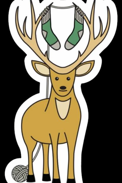 ADknits Stickers Deer Knitting