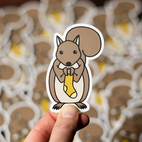 ADknits Squirrel Stickers