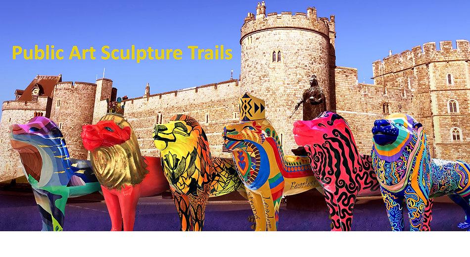Windsor Lions in front of Castle - Publi