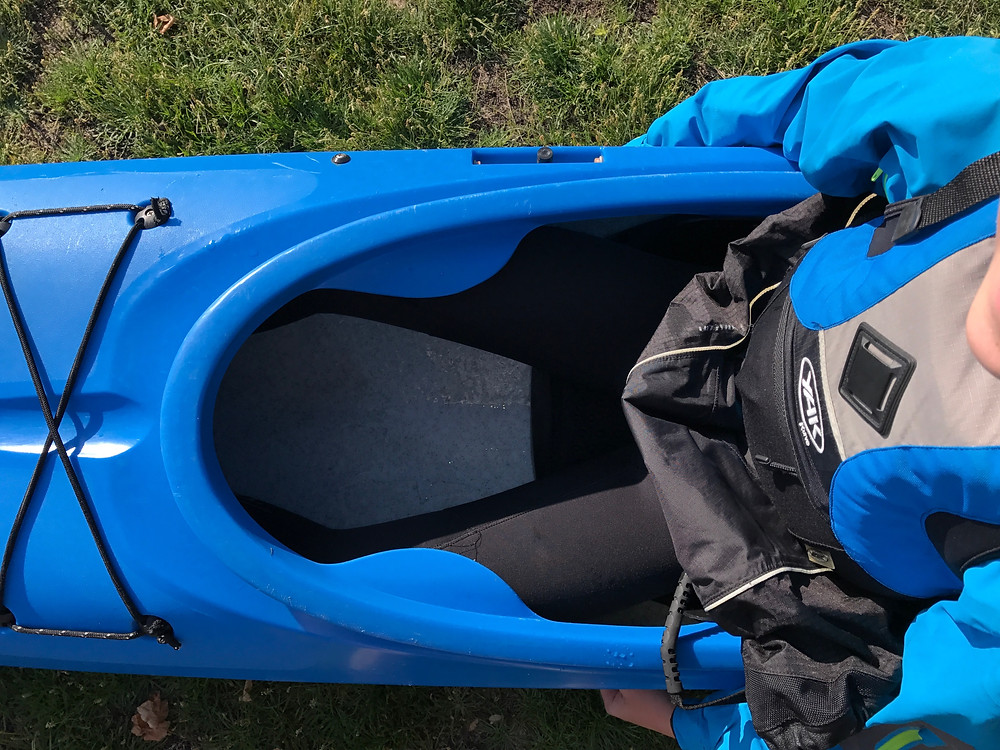 It is important to have all the correct contact points in a kayak.