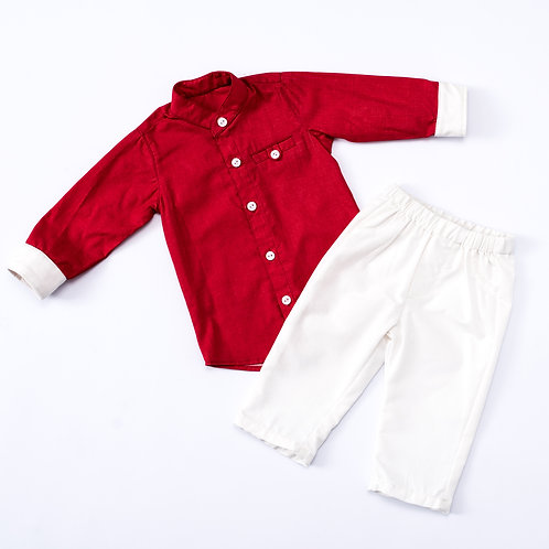 2 Pc Boy Shirt and Shorts set BK116