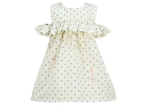 KARIU BABY GIRL OFF SHOULDER DRESS KA109