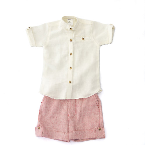 2 Pc Boy Shirt and Shorts set KAB105