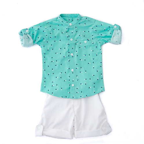2 Pc Boy Shirt and Shorts set KAB107
