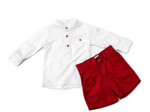 2 Pc Boy Shirt and Shorts set BK111