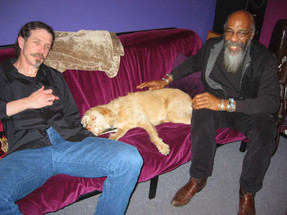 """Walter Parks, Richie Havens and Abby """"The Studio Dawg"""""""