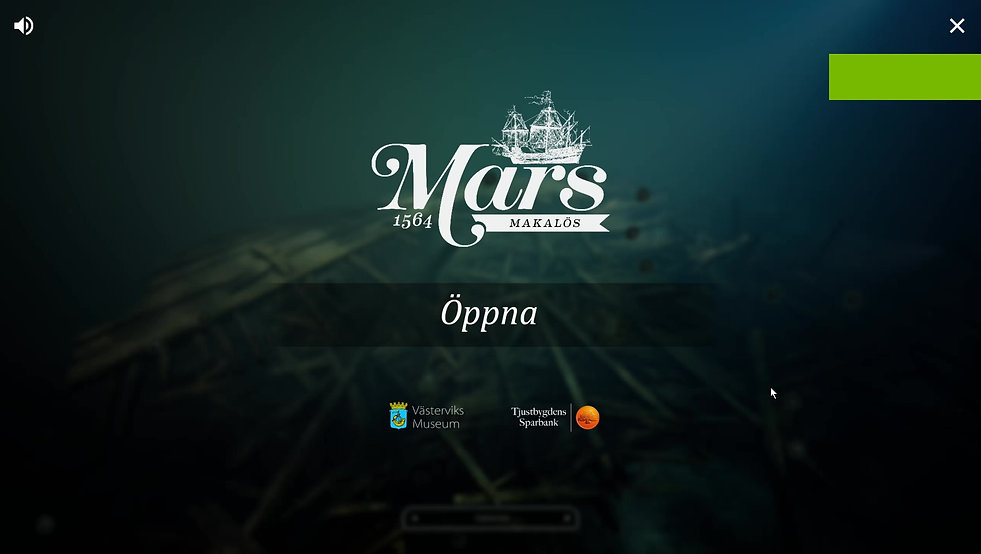 Touch table application creathed by the Mars Project