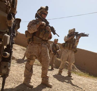Marines during patrol