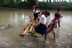Crossing a river for education