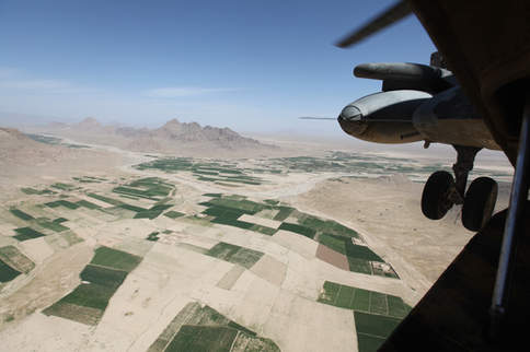 Afghan terrain from CH-46 point of view