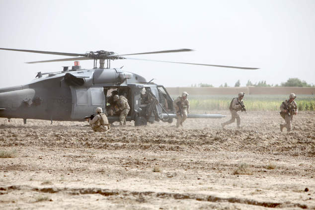 Marines assist in medical evacuation