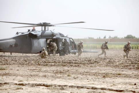Marines assist in medical evacuation