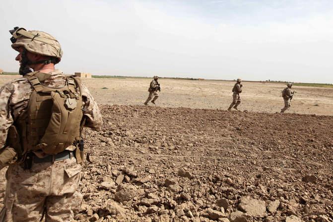 Marines run to help in medical evacuation