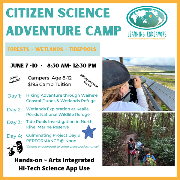 Copy of 8x11 Citizen Science Camp Flyer