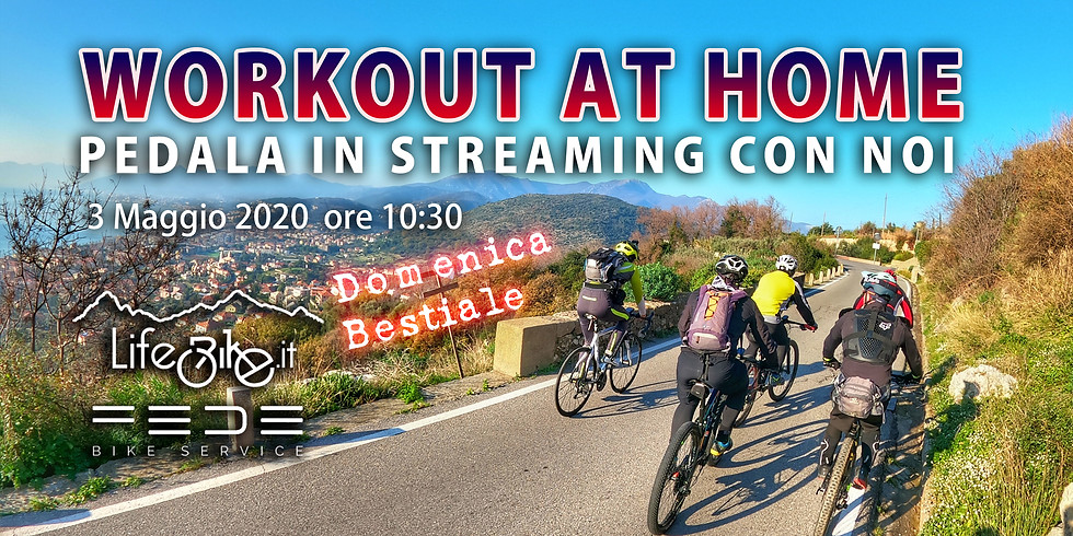 Workout at Home Pedala insieme a noi, Speciale Domenica!