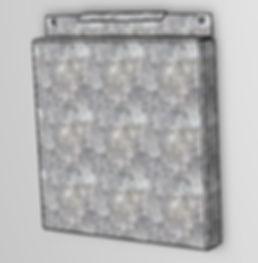 Металлокассета с замком (скрытое крепление)
